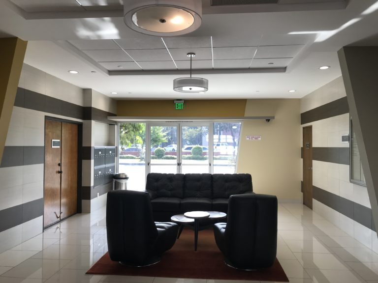 commercial property renovations lobby area in Los Angeles